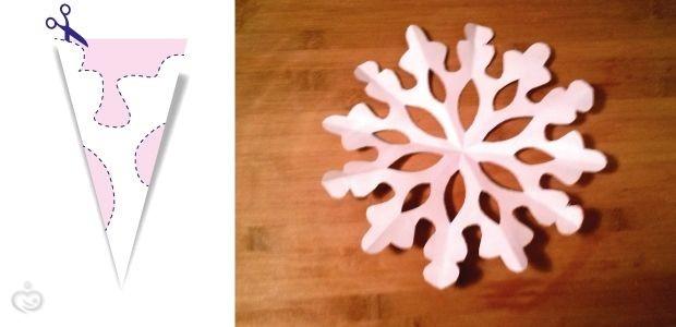 Снежинки из салфеток поэтапно с фото