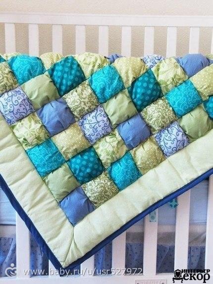 Одеяло из подушечек мастер класс