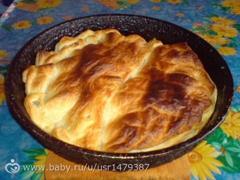 Слоеное тесто на сковороде рецепты с фото