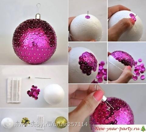Делаем своими руками новогодние шары