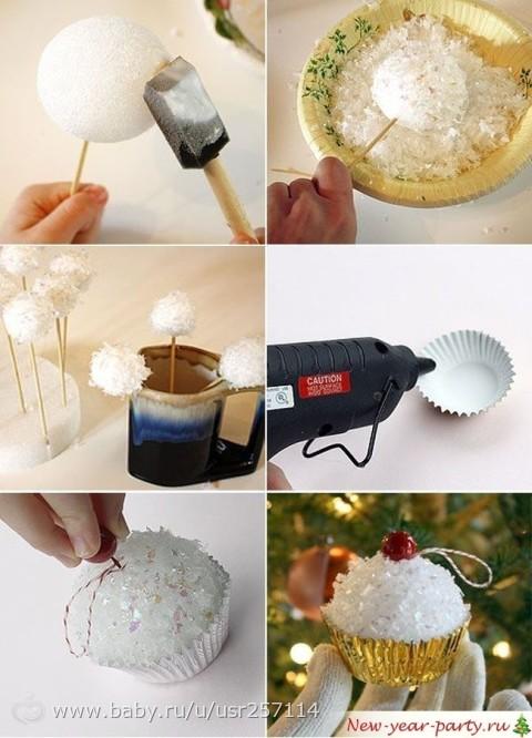 Как сделать собственными руками новогодние игрушки