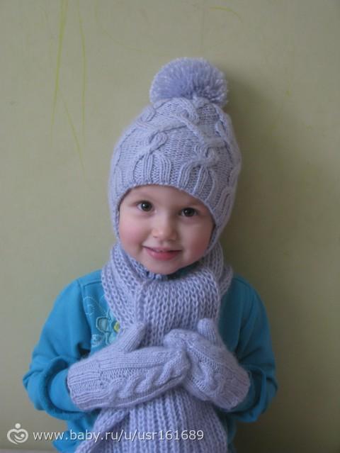 Зимняя шапка для девочки крючком фото схемы