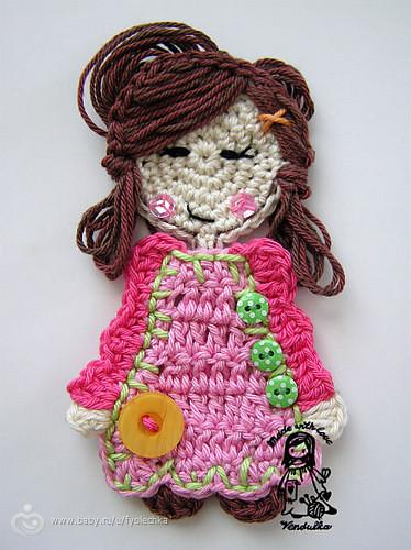 Аппликации для девочки вязание 23