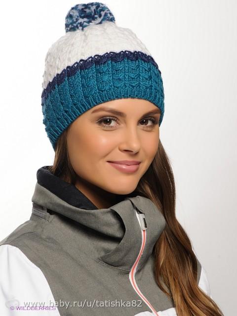 Вязание женской спортивной зимней шапки спицами
