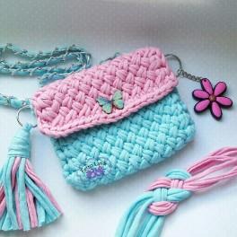 Вязание спицами сумочки для девочки 33
