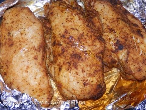 Диетическое куриное филе в фольге в духовке рецепт