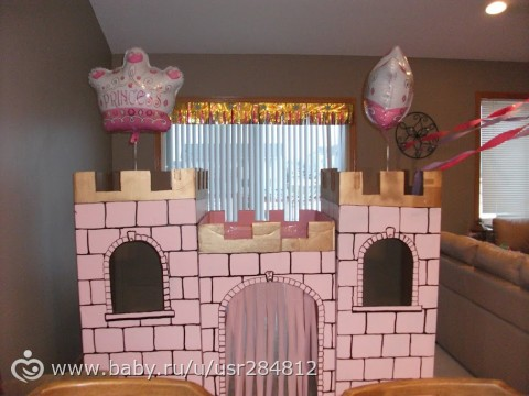 Как сделать декорацию замок