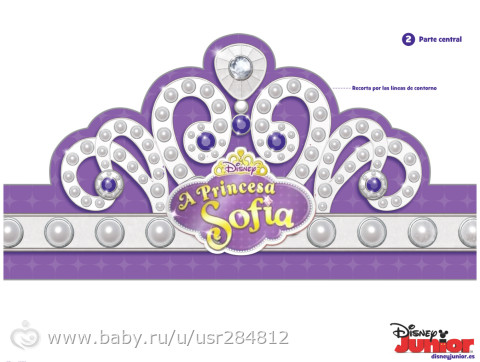 Disney princess crown template