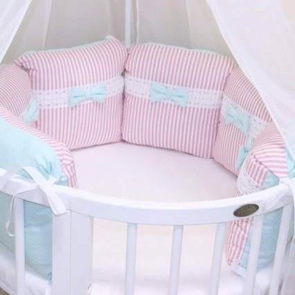 Сшить бортики в круглую кроватку для новорожденных выкройки