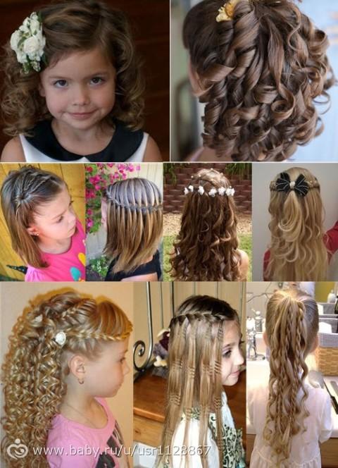 Прически на средние волосы детская