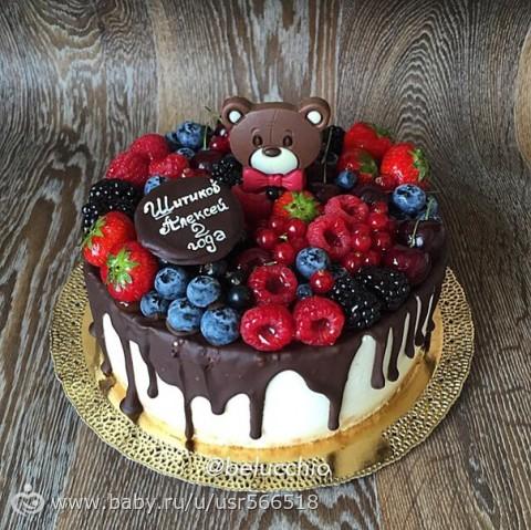 Деские торты с фруктами фото
