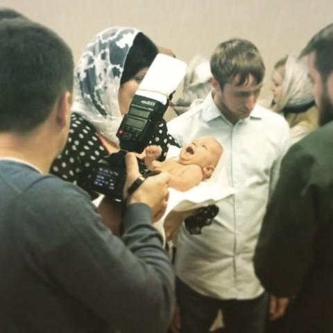 Покрестили)