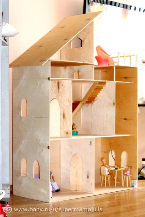 Дом для кукол своими руками чертежи фото 852