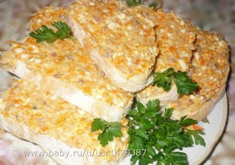 Бутерброды ложная икорка рецепт с фото
