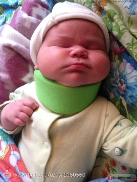 Зачем воротник шанца для новорожденных