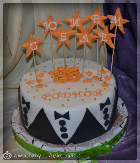 Торт из мастики для мужа на день рождения фото