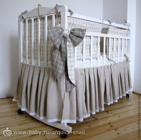 Юбка детскую на кроватку как сшить