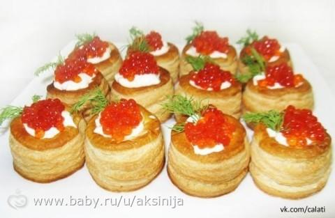 Праздничные закуски тарталетках рецепты фото