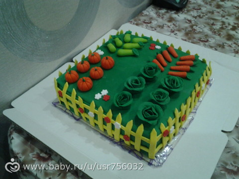 Торт-огород.