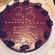Шоколадный чизкейк на 2 юбилея))) (муж и свекровь)