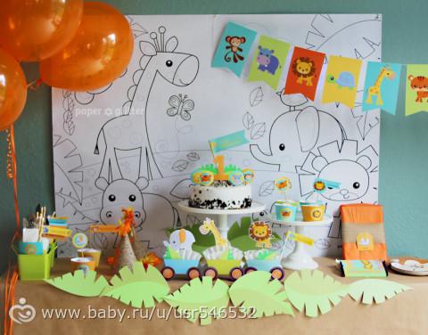 Детский ДЕНЬ РОЖДЕНИЯ в стиле САФАРИ / ДЖУНГЛИ. Идеи по организации, оформлению, праздничному столу