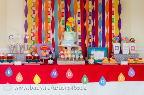 РАДУЖНЫЙ детский ДЕНЬ РОЖДЕНИЯ. Идеи по организации, оформлению, праздничному столу