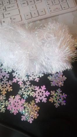 Платье Снежинки на утренник
