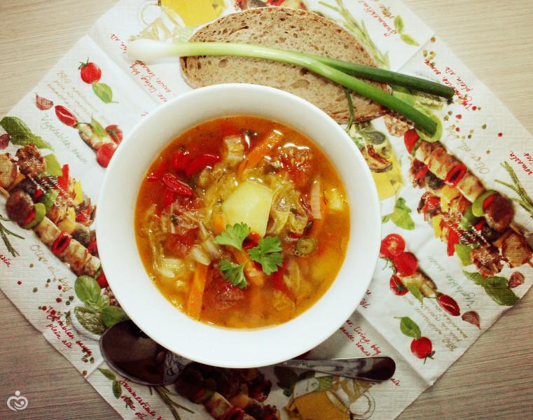 Лёгкий суп из Пекинской капусты.