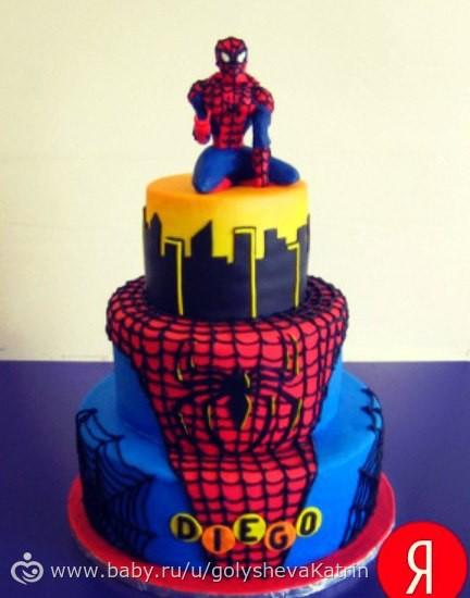 Торт людина павук фото
