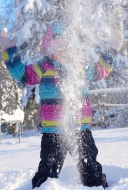 Волшебные снежинки окутали меня!