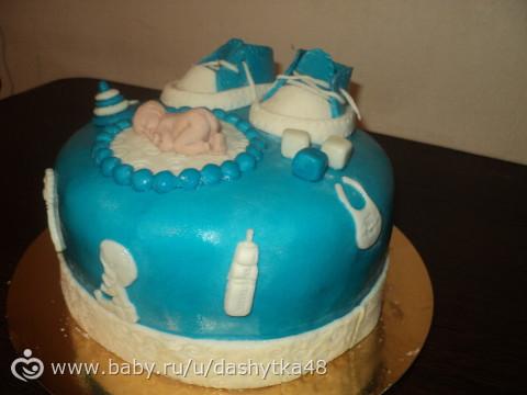 Торт сыну на год готов!Фото )