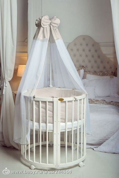 Удобна ли круглая кроватка для малыша