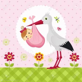 15604824-stork-with-a-baby-girl-in-a-bag-Stock-Vector-cartoon
