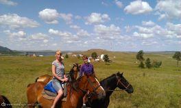 С дочей в Боровом 2015