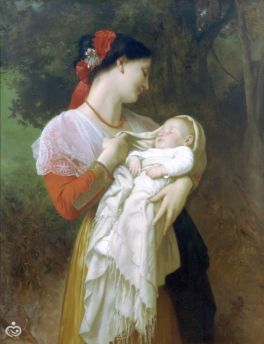 William-Adolphe Bouguereau_Maternal Admiration_YEZmSA