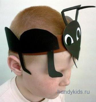 маска ободок муравей